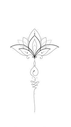 Simple Mandala Tattoo, Simple Hand Tattoos, Small Lotus Tattoo, Lotus Flower Tattoo Design, Floral Tattoo Design, Mandala Tattoo Design, Unique Tattoos, Circle Tattoos, Up Tattoos