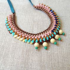 Stunning crochet necklace, Collar en ganchillo #ganchillo