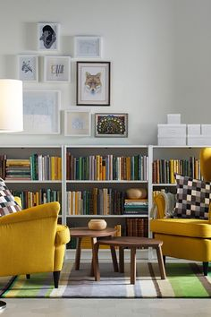 Creating your dream library in your home office or living room is easy with the IKEA BILLY bookcase system! BILLY comes in different heights, widths and finishes with adjustable shelves to suit all sizes of books. When your book collection grows, it's easy to add more pieces so your storage can grow, too.