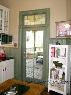 diy kitchen restoration, diy, home decor, kitchen backsplash, kitchen design, kitchen island, paint colors, wall decor, This is the original door trim