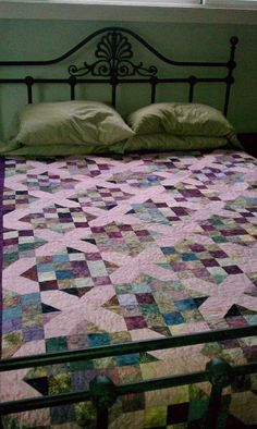 Zinfandel Bali Pop Crossroads Quilt.  I thought about getting this Bali Pop.  Now I need to find it!