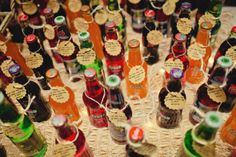 old School pop #sweettable from a Rustic Camp Wedding via @TheWeddingsMag