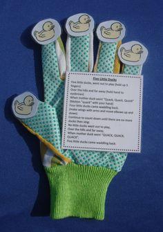 5 Little Ducks Glove Hand Finger Play by TeacherByDesign on Etsy, $4.00