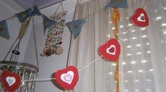 how to make heart garland Olga's dreamland - YouTube