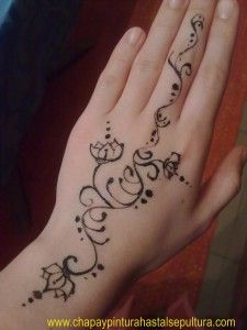 Tatuajes en las manos on pinterest tatuajes henna and for Henna para manos