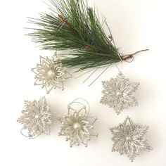 Silver Snowflake Ornaments Glitter Stars Vintage Tree Decor | Etsy Snowflake Ornaments, Snowflakes, Christmas Ornaments, Glitter Stars, Silver Stars, Cocktail Book, Holiday Tree, Different Patterns, Twinkle Twinkle