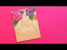 card making video Colored Stamping On Kraft - YouTube ... by Jennifer McGuire ... fab as usual ...