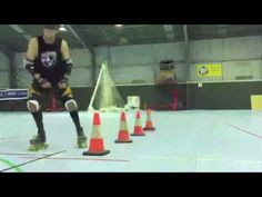 Roller Derby T-Glide/Push Chest Blocking with Sausarge Rolls #11 - YouTube