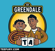 Greendale Street by pigboytees - Shirt sold on May 3rd at http://teefury.com - More by the artists at http://www.facebook.com/pigboytees