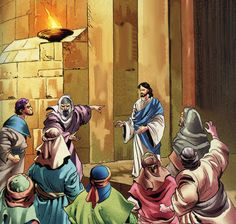 "John 8:58-59 - ""Jesus said unto them, Verily, verily, I say unto you, Before Abraham was, I am. Then took they up stones to cast at him: but Jesus hid himself, and went out of the temple, going through the midst of them, and so passed by."" John 8, Comic Pictures, I Said, Jesus Quotes, Going Out, Temple, It Cast, Stones, Bible"