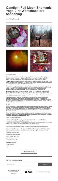 Candlelit Full Moon Shamanic Yoga 2 hr Workshops are happening...      with Naty Howard