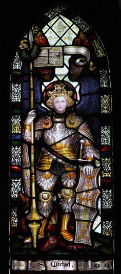https://flic.kr/p/8hsB3z | Warden - Saint Michael | Detail of north transept window by CE Kempe