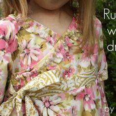 Ruffled Wrap Dress {Free Pattern}