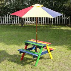 Kids Picnic Bench with Parasol.Visit us now and ENJOY 10% OFF + FREE SHIPPING on all orders