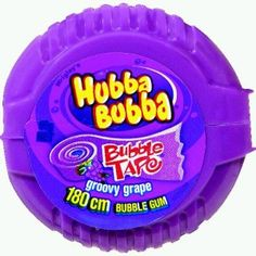 A bulk box of 12 Hubba Bubba Tape Grape bubblegum. This groovy grape flavoured bubblegum in a handy dispenser has a delicious taste and long lasting flavour! Weird Oreo Flavors, Frozen Cupcake Toppers, Junk Food Snacks, Chewing Gum, Confectionery, Bubble Gum, Snack Recipes, Bubbles, Yummy Food