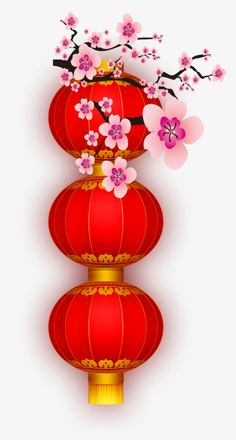 Plum and red lanterns PNG and Clipart Chinese New Year Decorations, New Years Decorations, Chinese New Year Greeting, Happy Chinese New Year, Chinese Crafts, Chinese Art, Lantern Christmas Decor, Chinese Christmas, Red Plum