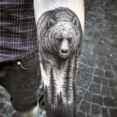 Bear Forearm Tattoos For Men