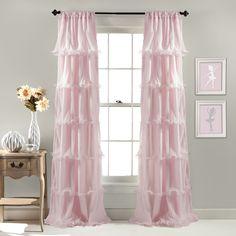 Lush Decor Nerina Window Curtain, White