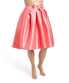 Loving this Zenobia Pink Bow A-Line Skirt - Plus on #zulily! #zulilyfinds