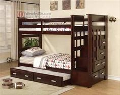 I like the trundle bed as a sleeping space for friends sleeping over. And the stair storage is pretty cool