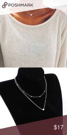 5d48049390e30 LOVELY HEART 2 NECKLACE SET💎💙S M SILVER! 💙💎Beautiful Boutique  Jewelry💎💙 Fun   Fabulous Fashion Jewelry! Great Quality. Metal Alloy.
