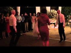 Love this....the oldies but goodies showing them how to get it done.  (Irish Jig at a wedding)