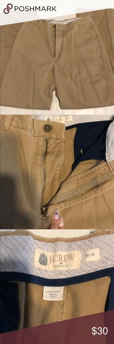 JCREW MENS tan khaki pants Worn 1 or 2 times Great condition  Regular fit  No tears, pulls or stains  Color is not faded Size 30/30 J. Crew Pants Chinos & Khakis