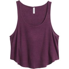 Fashion and quality clothing at the best price - H&M Crop Shirt, Cropped Tank Top, Crop Tops, Tank Tops, Jersey Shirt, Purple Crop Top, Dress And Heels, Ideias Fashion, Outfit Designer