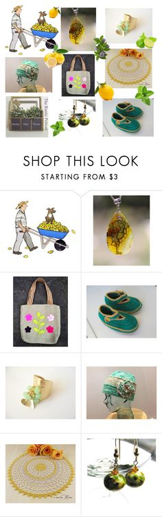 """Lemon and mint"" by lwitsa62 ❤ liked on Polyvore featuring interior, interiors, interior design, home, home decor, interior decorating and Giallo"
