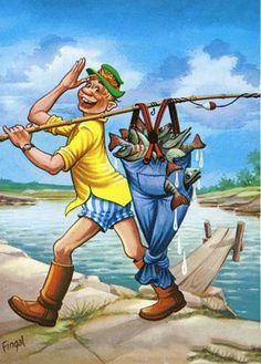 Cartoon Fish, Diamond Drawing, Image 3d, Image Digital, Cross Stitch Animals, Gone Fishing, Cross Paintings, Fish Art, Digi Stamps