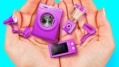 Barbie Dolls Diy, Diy Barbie Clothes, Barbie Doll House, Diy Doll, Barbie Stuff, Girl Dolls, Barbie House Furniture, Doll Furniture, Doll Crafts