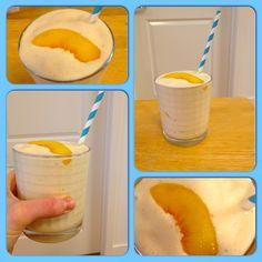 Peaches N Cream Protein Milkshake with a SECRET Ingredient!