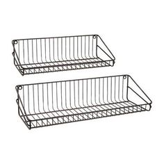 Ludovic Wall Shelf - Set Of 2 - Wire service: A pair of metal wall shelves in two sizes offer handy storage options. Display Shelves, Wall Shelves, Shelving, Display Stands, Furniture Deals, Modern Furniture, Furniture Outlet, Online Furniture, Shelf Hooks