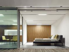 Clean, functional and efficient, the building uses zero energy, and there is little need for anything as outdated as a door handle or light switch.