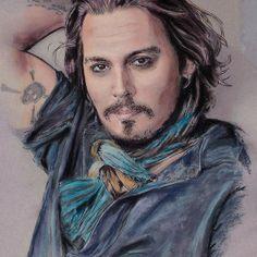 Johnny Depp Johnny Depp, Dreadlocks, Wall Art, Portrait, Tattoos, Hair Styles, People, Beauty, Hair Plait Styles