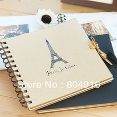 Aliexpress.com : Buy FIRST LINE Fashion Stationery Spiral Binding Paris Towel DIY Photo Album Notebook with photo corner sticker 2 designs ST0288 from Reliable notebook computer suppliers on First Line