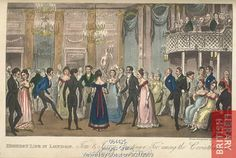 """""""Highest Life in London""""  (1823) by I. Robert and George Cruikshank from """"Tom and Jerry: Life in London"""" (©The British Library Board. All Rights Reserved 2010, Image ID: 064425)"""