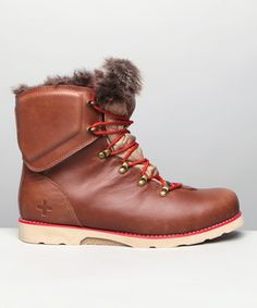 Loving this Psyberia Brown Hiker Leather Boot on #zulily! #zulilyfinds