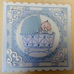 marianne design baby boy card