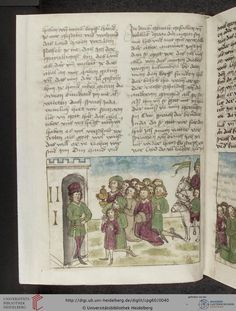 Cod. Pal. germ. 60: Historienbibel ; Irmhart Öser ; 'Brandans Reise' u.a. (Südwestdeutschland, um 1460), Fol 18v