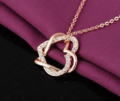 HEART PENDANT AUSTRIAN CRYSTALS NECKLACE Now 12.99$ + Free Shipping Check out for more in our store.