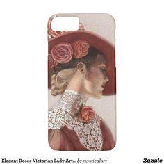 Elegant Roses Victorian Lady Art iPhone 7 Case