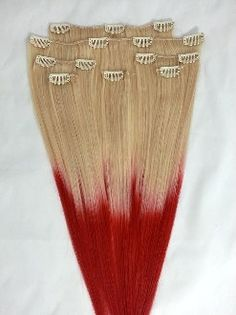 18inches 7pcs Clip In Human Ombre Hair Extensions by Hairfauxyou, $69.99