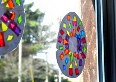 Easter craft: Stained Glass Easter Egg and Cross