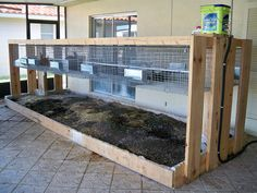 Rabbit Setup by preprunner, via Flickr..Really like this cage design