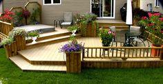 Patio Plus - patio avec spa intégré Backyard Patio Designs, Backyard Landscaping, Patio Plus, Gazebo On Deck, Pergola Kits, Backyard Canopy, Pergola Canopy, Tiered Deck, Rustic Patio