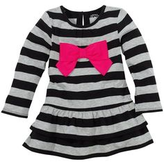 Carter's Stripe and Bow Knit Tunic - Toddler ❤ liked on Polyvore