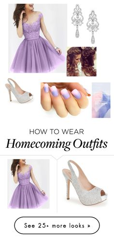 """""""lilac Homecoming """" by summerjune18 on Polyvore featuring Lauren Lorraine, Wrapped In Love, women's clothing, women's fashion, women, female, woman, misses and juniors"""