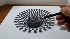 Jonathan Harris heeft de kunst van het 3D-tekenen zo onder de knie dat hij je ogen kan doen geloven dat er een diep zwart gat in dit velletje zit.