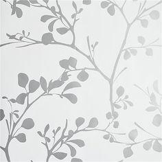 lilt silver self-adhesive wallpaper | CB2